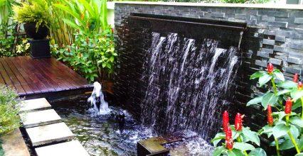 การจัดสวนด้วยการมีบ่อน้ำไว้ที่สวน
